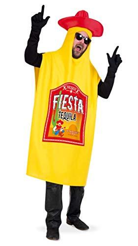 KarnevalsTeufel Kostüm Tequilaflasche für Erwachsene Ganzkörperkostüm Mexiko Karneval Mottoparty