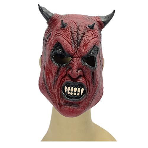 WHLMJ Latex Maske Großhandel Ghost Festival Nachtclub Karneval Doppelte Teufel Teufel Latex Maske Maske (Großhandel Spielzeug Hund Halloween)