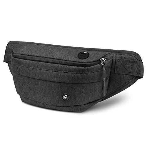 WATERFLY Bauchtasche für Damen und Herren Gürteltasche Hüfttasche mit Kopfhörerbuchse Rucksack für Radfahren Wandern Reisen Freizeit Sport-Outdoor -