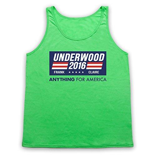 Inspiriert durch House Of Cards Underwood For President 2016 Inoffiziell Tank-Top Weste Neon Grun