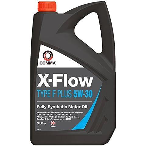 Comma XFFP5L X-Flow - Aceite sintético de motores gasolina y diésel de turismos (5W-30, 5 l, tipo F Plus)