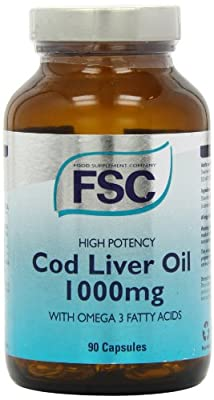 FSC 1000mg High Potency Codliver Oil 90 Capsules by Food Supplement Company