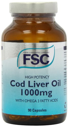 FSC 1000mg High Potency Codliver Oil 90 Capsules