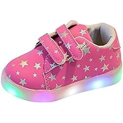 Zapatos de Bebé, Zolimx Zapatillas de Bebé de Moda LED Niño Luminoso Pequeño Casual Colorido Zapatos Ligeros (28 (4.5~5 años), Longitud: los 17.6CM, Rosa)