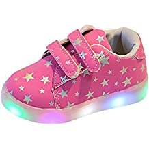 LED Flash Zapatos de Bebe, K-Youth® Zapatos Deportivos Otoñales Luces LED Zapatillas