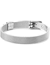 ZOOMY Bracelet Femmes Acier Inoxydable Mesh Boucle De Ceinture Bracelet  Réglable Bracelet Bracelet Cadeau - 8mm b120a99f8b9