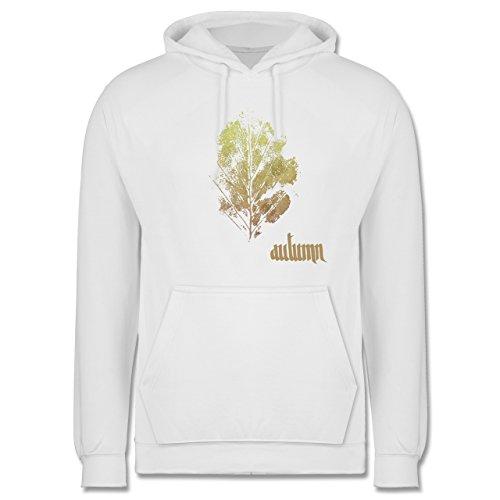 Blumen & Pflanzen - Herbstblatt - autumn leaf - Männer Premium Kapuzenpullover / Hoodie Weiß