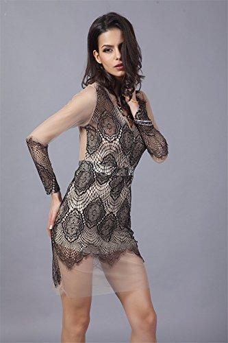 Qiyun 3008s0871–Robe pour femme Noir