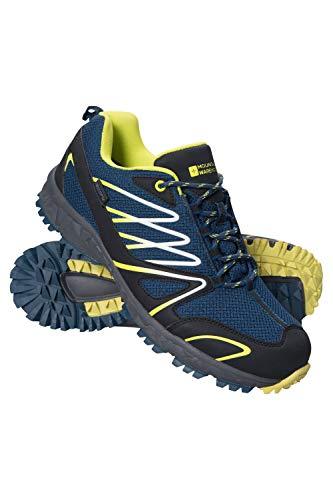 Mountain Warehouse Enhance Wasserfeste Laufschuhe für Herren - Atmungsaktive Freizeitschuhe, weiche Wanderschuhe, strapazierfähige Herrenschuhe - Schuhe für den Alltag Petrolblau 43