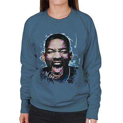 Sidney Maurer Will Smith Official Womens Sweatshirt Indigo Blue