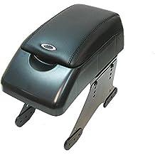 Boloromo 48015 Apoyabrazos Consola Central Reposabrazos Tuning Acolchado Soporte Caja de Consola Posavasos Negro