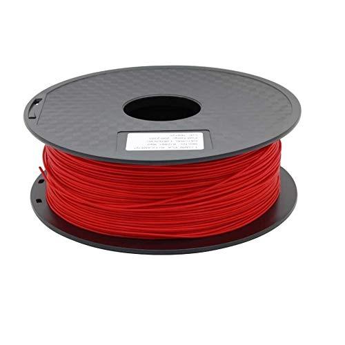 Wang-n-j-3d, zonestar shipping from russia filamento stampante 3d materiali di consumo in plastica pla 1,75 mm 28 colori 1kg / roll (colore : rosso)