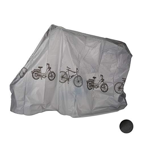 Relaxdays Funda para bicicleta, Funda protectora, Protección solar, Cubierta, Polietileno, 200 x 115...
