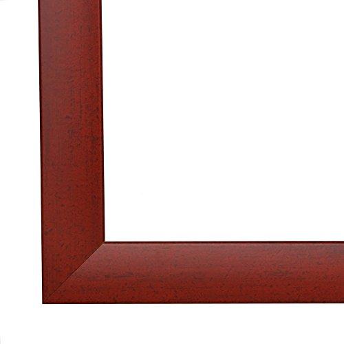Olimp Bilderrahmen 19x29 oder 29x19 cm in ROT GEWISCHT normal Kunstglas und Rückwand, 35 mm breite...