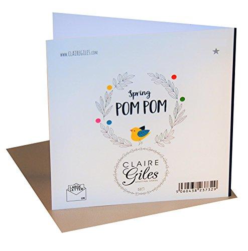 "Image of Pom Pom ""Dinosaur"" Father's Day Card"