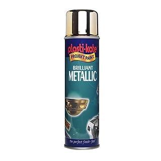 Plasti-Kote 440.0000161.076 161 400 ml Brilliant Metallic Spray Paint - Silver