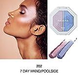 Make-up-Lidschatten, Lidschatten-Tablett,Jaerio PHOERA Zwei-Ton Highlighter Make Up Shimmer Creme Gesicht Highlight Lidschatten 2019 heiße neue Mode,Diamant-Pailletten, Farbverlauf,Reparaturkapazität