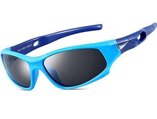 rille TR90 Polarisierte Sportbrille für Jungen und Mädchen Alter 3-10 5025 blue-blue (Kinder Sonnenbrillen)