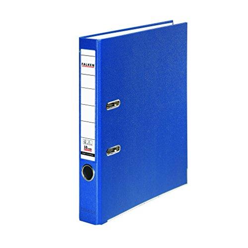 Preisvergleich Produktbild Falken PP-Color Kunststoff-Ordner 5 cm schmal DIN A4 blau Ringordner Aktenordner Briefordner Büroordner Plastikordner Schlitzordner