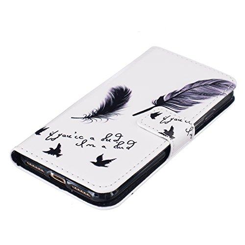 PU Coque Pour Apple iPhone 7 (4.7 pouces), Multifonction Case Wallet Cover Etui en cuir Étui de protection flip Wallet stand Cover avec des fentes de cartes Pour Apple iPhone 7 (4.7 pouces) +Bouchons de poussière (5WW)