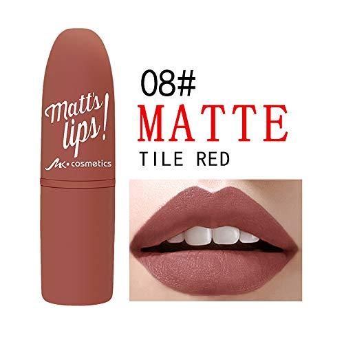 Porlous Longue durée pour Les lèvres, Cadeau cosmétique de beauté cosmétique 2019 Rouge à lèvres étanche
