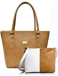 [Sponsored]Mammon Women Handbag And Sling Bag Combo (HS-combo-CW, 40x30x10 CM)