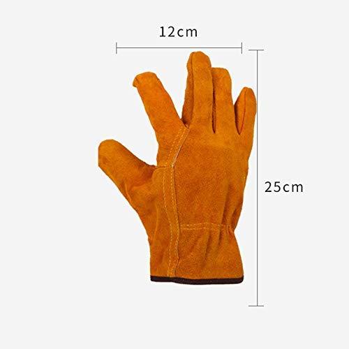MTG Robuste Gartenhandschuhe für Männer und Frauen, stichfeste Lederarbeitshandschuhe, wasserdichte und selbstpflegende Handschuhe, langlebig und flexibel, sicher und bequem,Gelb