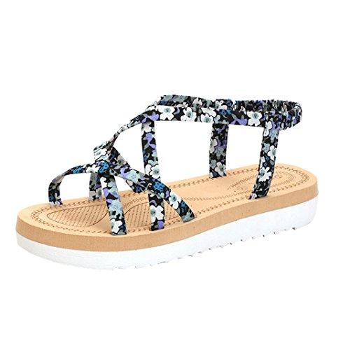 LANDFOX-Las-mujeres-de-moda-de-verano-Flip-Flops-Playa-sandalias-bandas-de-cuerda-plana-zapatos
