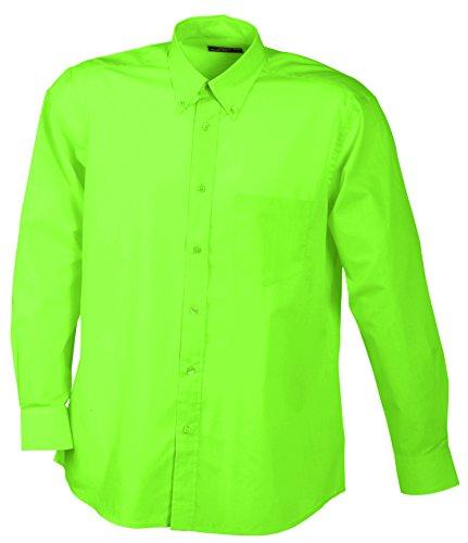 - Knopf-manschette-button-down-hemd (James & Nicholson Herren Men's Promotion Shirt Long-Sleeved Sporthemd, Grün (Lime-Green), X-Large)