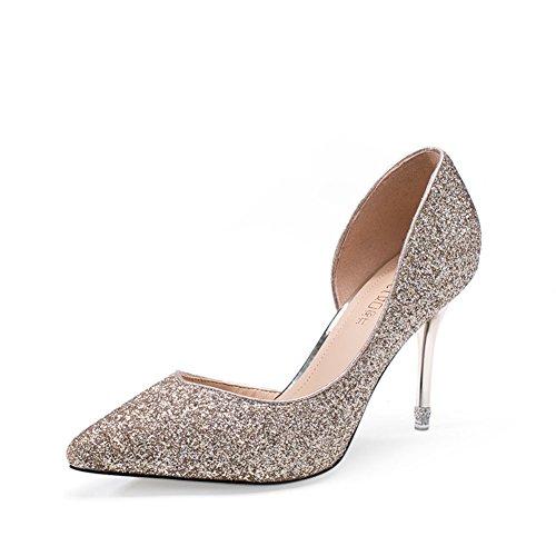 La chute de souliers pour dames coréen/Talons hauts fashion Glett/Bouche peu profonde a fait chaussures à talon
