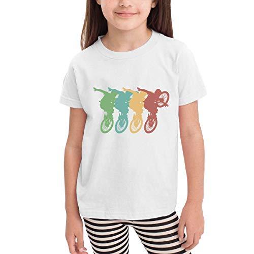 j65rwjtrhtr Retro BMX Bike 2-6 Years Old Kinder Kids Short-Sleeved Tshirts -