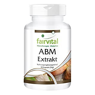 ABM Extract 500mg - Agaricus Blazei Murill - Vegan - 90 Capsules - standardised to 45% polysaccharides