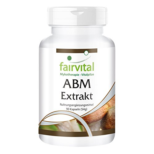 ABM Extrakt 500mg - Agaricus Blazei Murill - für 1 Monat - VEGAN - 90 Kapseln - standardisiert auf 45{d4516c7bbcdd9c6d95dcfc00bef755c345ab598ea3bb650f1f35b473a7176bb8} Polysaccharide
