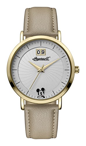 Ingersoll Disney Women's Union Quartz Watch with Weiß Dial and Beige PU Leather Strap ID00503