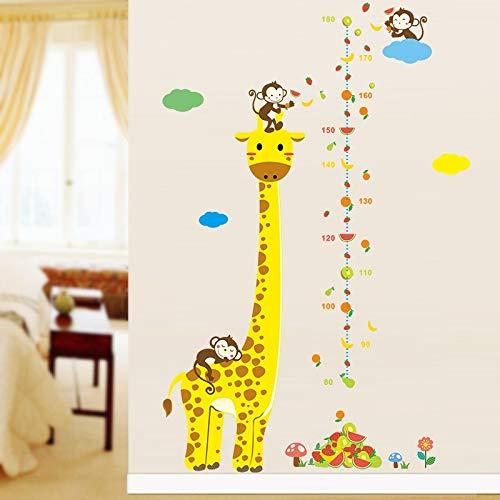 Atiehua Wandtattoos 3D Cartoon Maßnahme Wandaufkleber Kinderzimmer Schlafzimmer Wohnzimmer Giraffe...