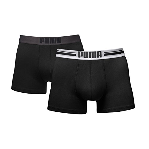 Puma Herren Boxer Shorts Bodywear Placed Logo 2er Pack, black, M, 651003001