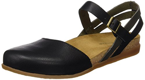 El Naturalista S.A Nf41 Soft Grain Zumaia - sandali Closed-toe Donna, Nero (Black Mixed), 36 EU