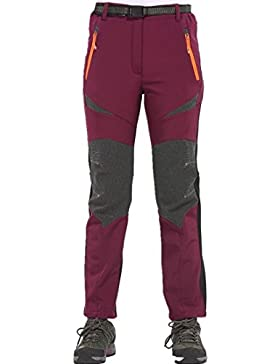 [Patrocinado]Sidiou Group Mujer Pantalones impermeables Pantalones de alpinismo forrados a prueba de viento Pantalones de senderismo...
