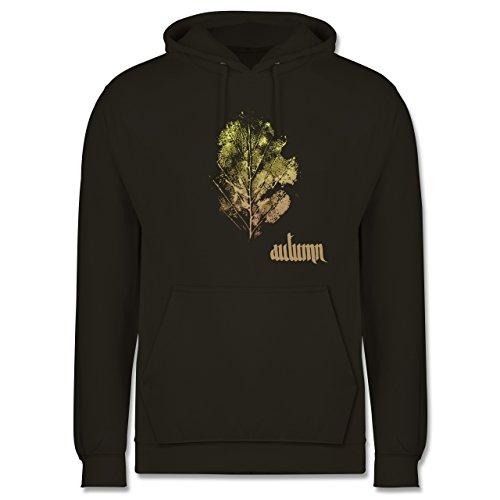 Blumen & Pflanzen - Herbstblatt - autumn leaf - Männer Premium Kapuzenpullover / Hoodie Olivgrün