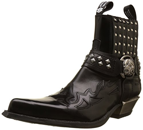 Antik Cowboy-stiefel (New Rock Mens M 7950-S1 Antik Black Leather Boots 43 EU)