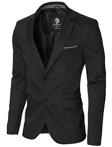 Slim Moderno Herren Blazer Black Sakko Fit Business Mod14517b IDWE9eHYb2