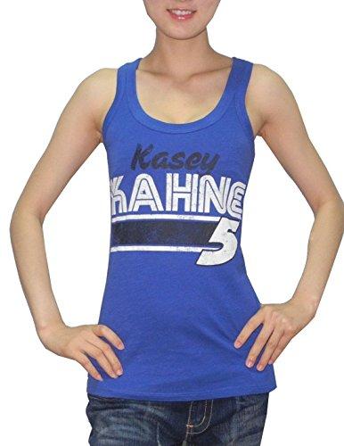 Kasey Kahne, Nascar (NASCAR Womens Kasey Kahne #5 Athletic Crew-Neck Tank Top (Vintage Look) S Blue)