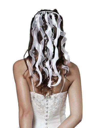 HBH Hamburger Brautmoden Haarbänder F363 Weiß