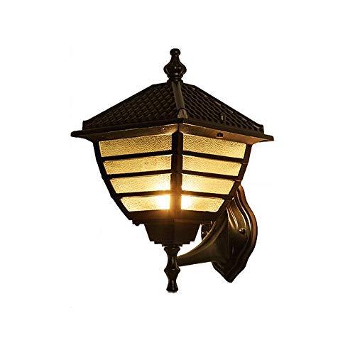 Gelay E27 Außenleuchte Lichter Continental Vintage Outdoor Wasserdichte Milchglas Wandleuchte Moderne LED Gang Treppe Flur Aluminium Wand Laterne Licht Dekoration Beleuchtung Straßenlaterne -