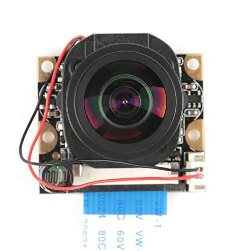 Akozon Kameramodul 5 Millionen Pixel OV5647 Sensor HD Video Webcam unterstützt Nachtsicht automatisch schalten IR Cut Kamera Modul Board mit füllen Lichter für Raspberry Pi B 3/2(ohne Fülllicht) Ir-drucker Adapter