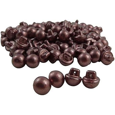 100 piezas de imitación de perlas ronda botón de plástico Crafting vestido Shank Diy costura