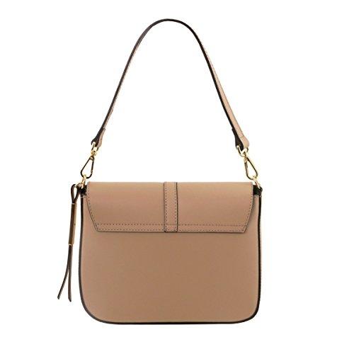 Tuscany Leather Nausica - Ruga leather shoulder bag - TL141598 (Dunkelblau) Dunkelblau