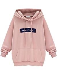 Moonuy Damen Hoodies, Frauen Herbst Winter Neue Stil Langarm Hoodie  Sweatshirt Jumper mit Kapuze Pullover Stilvolle Kleidung Elegante… cdb1e45c6a
