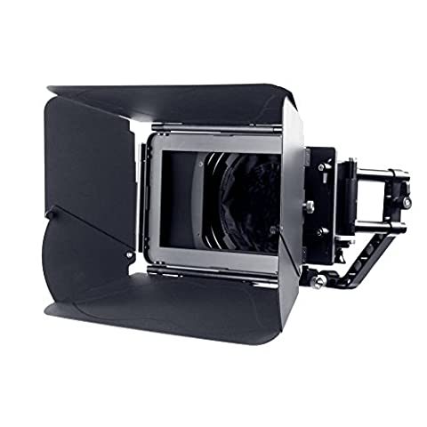 Movo MB400 MK II Professional Matte Box with Swing-Away Arm. French Flags, Side Wings & Universal Anti-Reflection Donut (for 15mm Rod