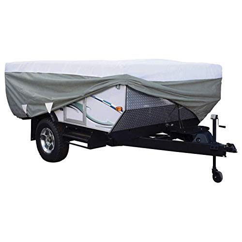 Classic Accessories 80-040-163106-00 Overdrive PolyPro III Deluxe Folding Camping Trailer Cover, Fits 12' - 14' Trailers (12 Ft Trailer)